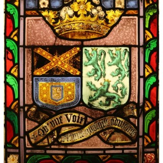 A Reclaimed Stained Glass Armorial Window