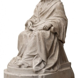 A Late 19th Century Plaster Marquette of a Seated Lady
