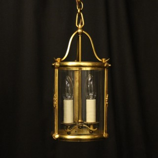 French Gilded Twin Light Antique Lantern