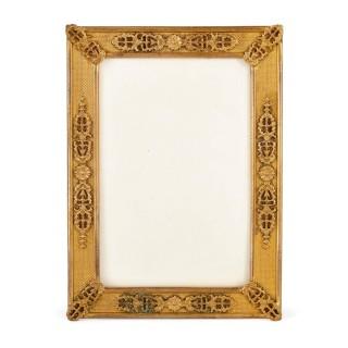 Empire gilt bronze picture frame