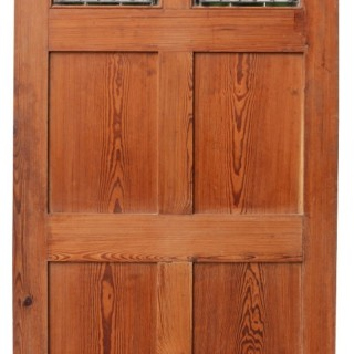 A Victorian Pitch Pine Internal Door
