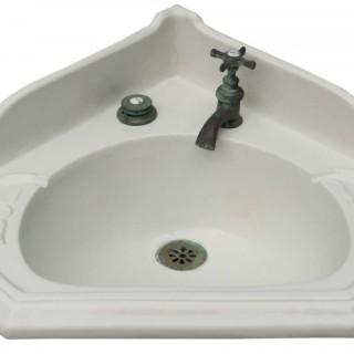 An Antique Porcelain Corner Wash Basin