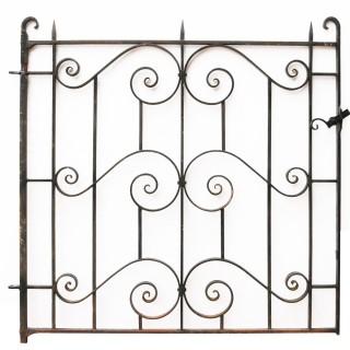 A Reclaimed Wrought Iron Pedestrian Gate