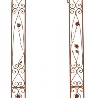 Two Reclaimed Antique Wrought Iron Panels