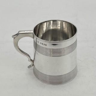Antique George III Sterling Silver Pint Mug London 1792 Robert Hennell