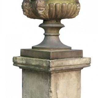 An Antique Doulton & Co. Buff Terracotta Centre Piece Urn