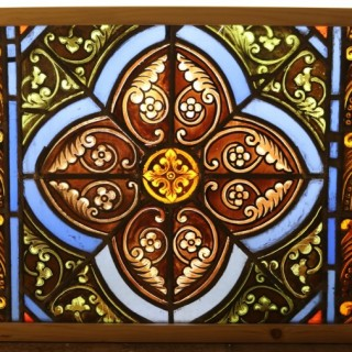 A Reclaimed English Stained Glass Window