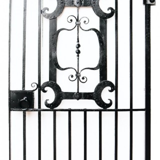 A Reclaimed Wrought Iron Side Gate