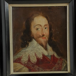 17th Century Oil on Oak Panel Painting