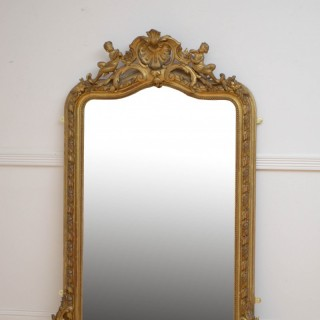 19th Century French Gilded Wall Mirror H150cm