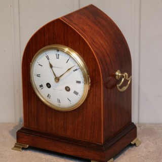 Good Quality 19th Century Rosewood Lancet Top Mantel Clock £ 825