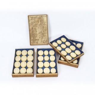 Antique Boxed Set 48 Grand Tour Intaglios by Bartolomeo Paoletti 19th C