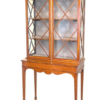 Late 19th Century Satinwood Display Cabinet