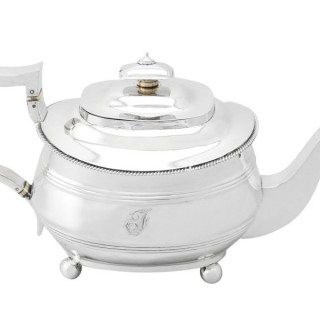 Sterling Silver Teapot - Antique George III (1813)