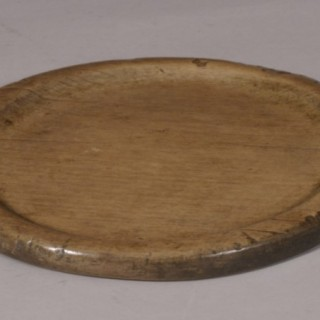 Antique Treen 18th Century Sycamore Food Platter