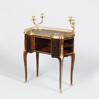 A Parquetry and Ormolu Ladies Writing Table