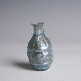 Roman Pale Blue Glass Bottle