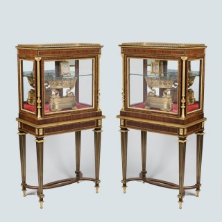 A Pair of Display Cabinets in the Louis XVI Manner