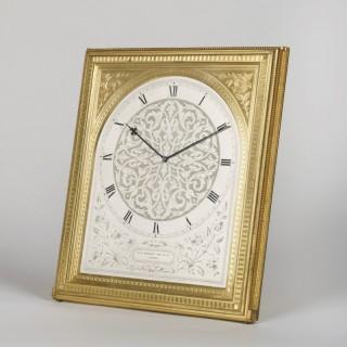 A Large Rectangular Strut Clock By Thomas Cole