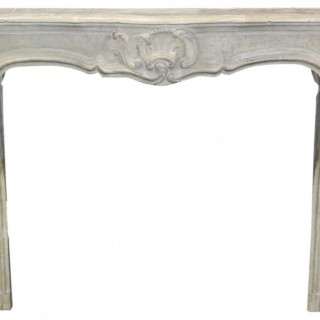 A Reclaimed Late 18th Century Louis XV Stone Fireplace