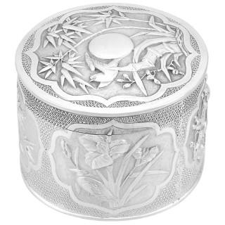 Chinese Export Silver Box - Antique Circa 1910