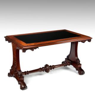 Fine 19th Century Mahogany Centre, Sofa Table with Inset Slate Top