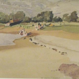 'The Lagoon at Inverkip' by Alexander Milligan Galt RGI (1913-2000)