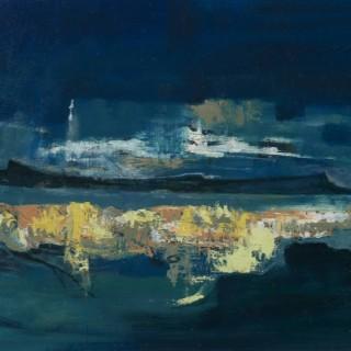 'Twilight Landscape' by Gordon Hope Wyllie RSW (1930-2005)