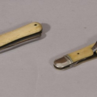 Antique 19th Century Folding Knife and Fork