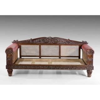 Mid 19th Century Indo-Portuguese Rosewood Sofa