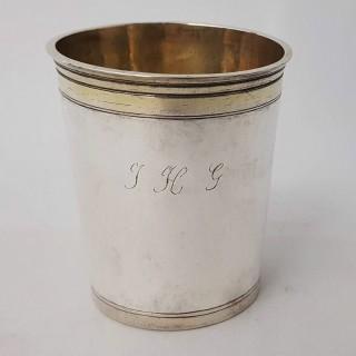 Antique Silver Armorial Beaker