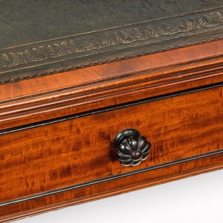 Important Regency Mahogany Partners Writing Table in the Manner of George Smith