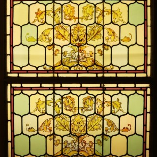 Two Victorian Stained Glass Windows