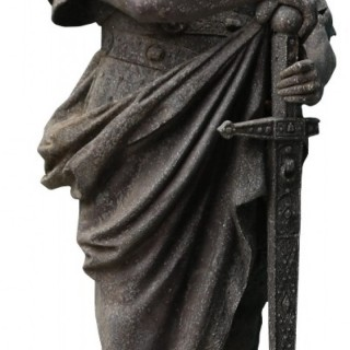 An Antique Garden Statue of Charlemagne (Charles the Great)