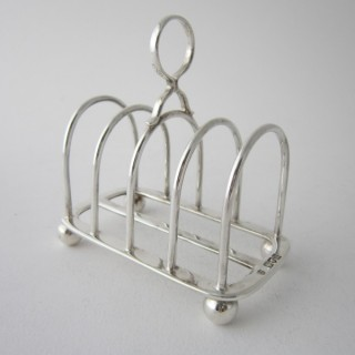 Antique Sterling Silver Toast Rack - 1915