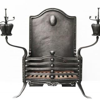 An Antique Art Nouveau Style Fire Grate