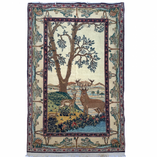 PICTORIAL KASHAN RUG, CENTRAL PERSIA