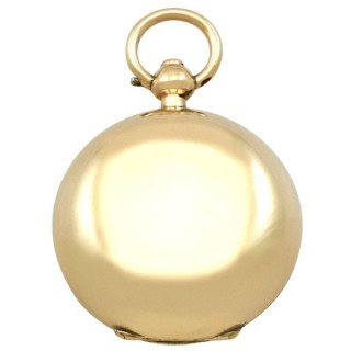 9ct Yellow Gold Sovereign Case - Antique Victorian