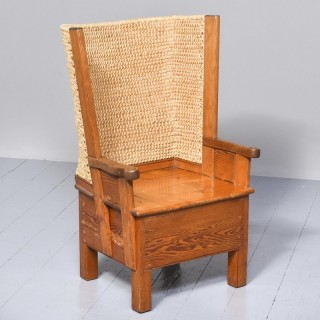 Pine Framed Orkney Chair with some Unusual Features