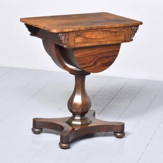 William IV Rosewood Victorian Work Box