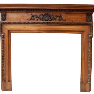 A Reclaimed Victorian Mahogany Fireplace