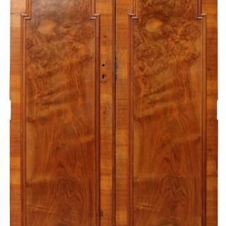 A Set of 1920s Walnut Art Deco Doors
