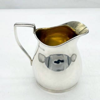 Early 20th Century Antique Edwardian Sterling Silver Large Cream Jug London 1907 Barnard Family