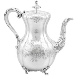 Sterling Silver Coffee Pot - Antique Victorian (1840)