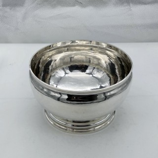 Early 20th Century Antique Sterling Silver Punch Bowl London 1929 Richard Comyns