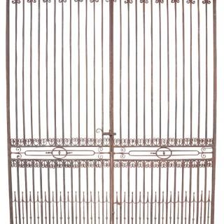 Large Antique Wrought Iron Entrance Gates