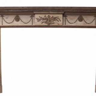 A George III Pine and Gesso Fire Surround