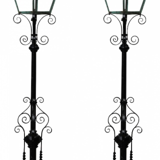 A Pair of Antique Reclaimed Victorian Lamp Posts
