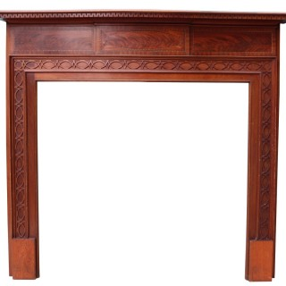 An Antique Mahogany Chippendale Style Fire Surround
