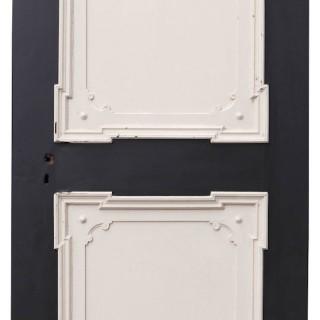 An Antique Two Panel Reclaimed Pine Door